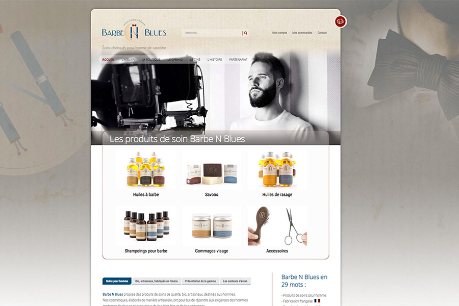Site vitrine : www.barbe-n-blues.fr